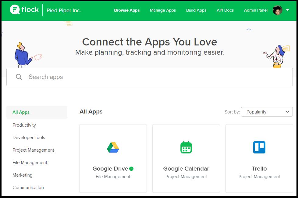 Installing apps – Flock