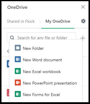 OneDrive app – Flock